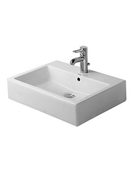 Vero White 600 x 470mm 1 Tap Hole Washbasin - 0454600041