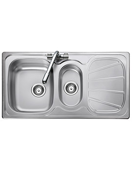 Baltimore 950 x 508mm Stainless Steel 1.5B Inset Kitchen Sink