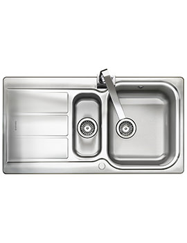Glendale 950 x 508mm Stainless Steel 1.5B Inset Kitchen Sink