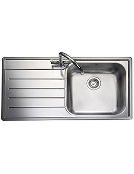 Rangemaster Oakland 985 x 508mm Stainless Steel 1.0B Inset Sink