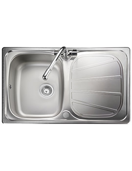 Rangemaster Baltimore Compact 800 x 508mm Stainless Steel 1.0B Inset Sink