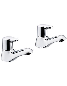 Elements Lever Pair Of Bath Pillar Taps