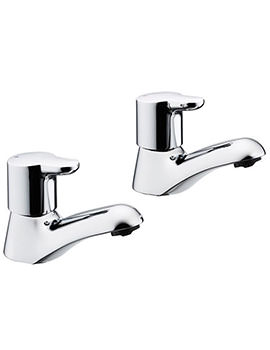 Elements Lever Pair Of Basin Pillar Taps