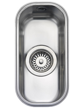 Atlantic Classic 185 x 370mm Stainless Steel 1.0B Undermount Sink