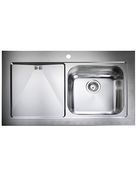 Mezzo 1000 x 605mm Stainless Steel 1.0B Inset Kitchen Sink