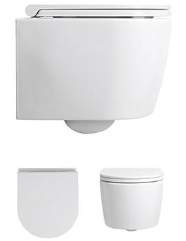Bauhaus Pier Wall Hung WC Pan With Wrap Over Soft Close Seat