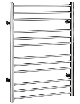 Saneux Tempus 400 x 790mm Straight Stainless Steel Heated Towel Rail - More Size Available