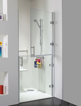 Ambulant Hinged Shower Door 1000mm - CBSE010
