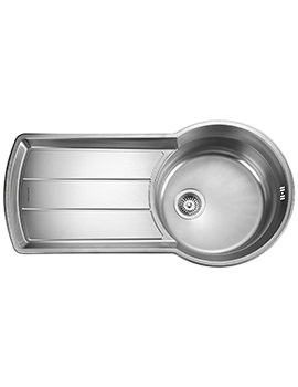 Keyhole 1000 x 520mm Stainless Steel 1.0B Inset Kitchen Sink