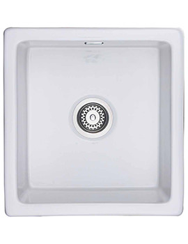Rangemaster Rustique 450 x 475mm Fire-Clay Ceramic 1.0B Undermount Sink - CRUB4648WH