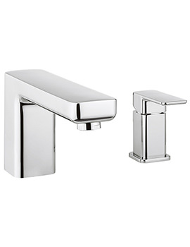 Atoll Deck Mounted Bath Filler Mixer Tap