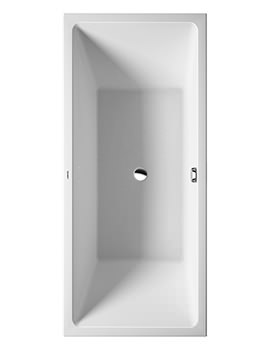 Vero Air 1800 x 800mm Back-To-Wall Seamless Panel Bath
