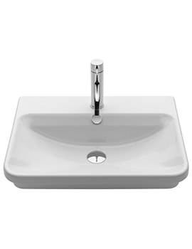 Saneux Project 550mm Recess 1 Tap Hole Washbasin