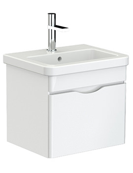 Saneux Indigo 500mm 1 Drawer Unit With Washbasin