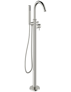 Mike Pro Brushed Stainless Steel Bath Shower Mixer Tap With Kit