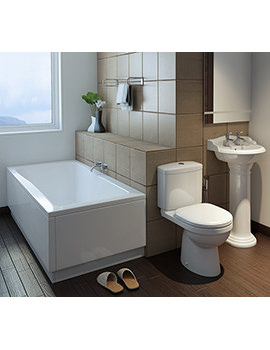 Verizon White Bathroom Suite