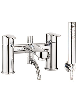Voyager Deck Mounted Bath Shower Mixer Tap With Kit