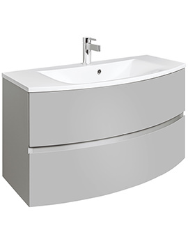 Bauhaus Svelte 1000mm Storm Grey Wall Hung Vanity Unit And Basin