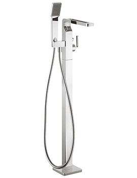 Kelly Hoppen Zero 1 Floor Standing Bath Shower Mixer Tap With Kit