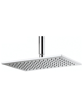 Crosswater Zion 340 x 220mm Rectangular Fixed Shower Head