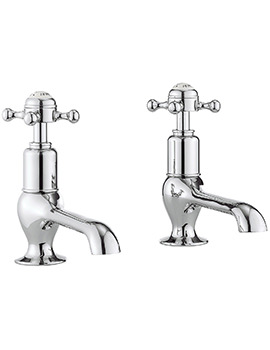 Belgravia Crosshead Chrome Pair Of Long Nose Basin Taps