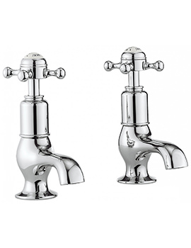 Belgravia Crosshead Chrome Pair Of Cloakroom Basin Taps