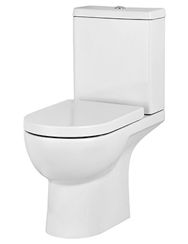Saneux Austen Gloss White Close Coupled WC Pan With Cistern