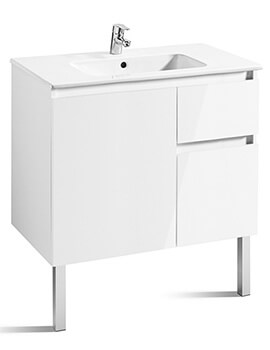 Roca Anima Unik 800mm Wall Hung Base Unit With 1 Door And 2 Drawers