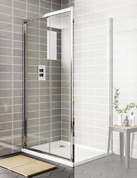 Spring Sliding Shower Door 1100 x 1900mm