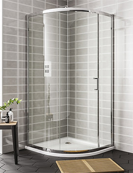 Spring 1000 x 1900mm 1 Door Quadrant Shower Enclosure