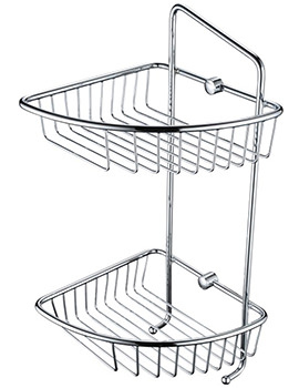 Two Tier Wall Fixed Wire Basket