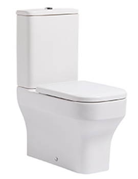 Accent 630mm Close Coupled Fully Enclosed WC With Cistern And Seat