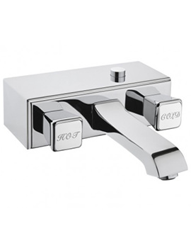 Elegance Wall Mounted Bath Shower Mixer Tap Chrome