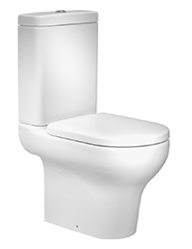 Note Close Coupled WC With Cistern And Seat White