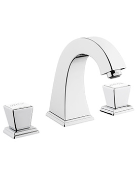 Elegance Chrome 3 Hole Deck Mounted Basin Mixer Tap