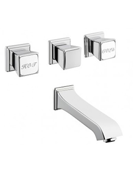 Elegance 4 Hole Built In Bath Shower Mixer Tap Chrome
