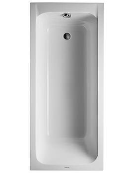 D-Code 1600 x 700mm Built-In Bath With Support Feet - Outlet In Foot Area