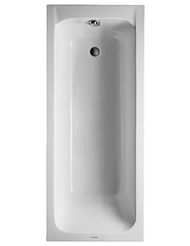 D-Code 1700 x 700mm Built-In Bath With Support Feet - Outlet In Foot Area