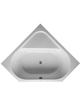 D-Code 1400 x 1400mm Built-In Corner Bathtub Without Feet