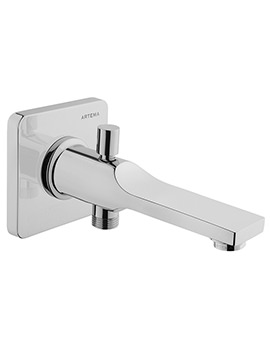 Suit L Wall Mounted Chrome Bath Spout With Handshower Outlet Chrome