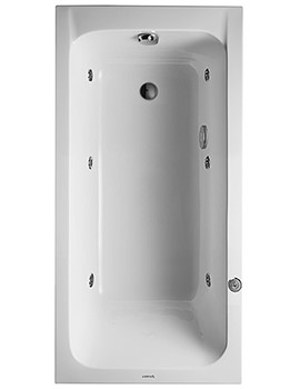 Duravit D Code 1500mm Built In Whirltub With Outlet In Foot Area