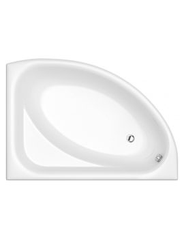 Florida White Left Handed Offset Bath 1495 x 1030mm - NTH