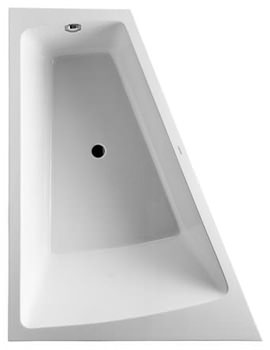 Paiova 1800 x 1400mm Left Backrest Slope Bath With Panel And Frame