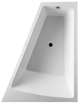 Paiova 1700 x 1300mm Right Backrest Slope Bath With Panel And Frame