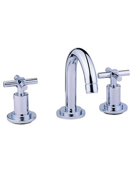 Uno 3 Hole Basin Mixer Tap With Pop Up Waste