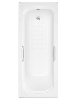 Trojan Granada II Twin Grip 8mm 2 Taphole Single Ended Bath 1700 x 700mm