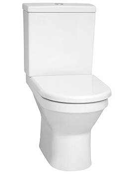 S50 655mm Rim-Ex Back-To-Wall Close Coupled WC Pan With Cistern