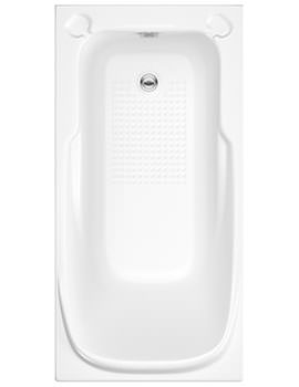 Trojan Premier Twin Grip No Taphole Single Ended Bath 1400 x 700mm