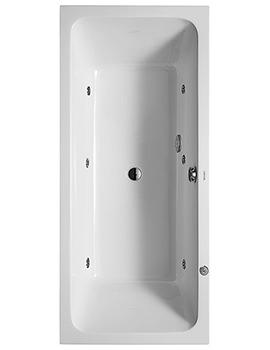 D-Code 1800 x 800mm Built-In Whirltub With Central Outlet