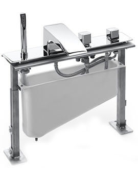 Thesis Thermostatic Bath-Shower Mixer Tap With Full Kit And Tank